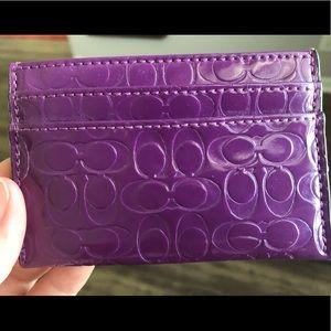 Coach Accessories - Purple Coach card holder